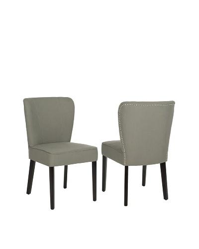 Safavieh Set of 2 Clifford Side Chairs, Sea Mist