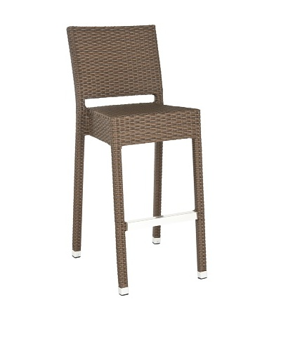 Safavieh Bethel Indoor/Outdoor Barstool, Brown