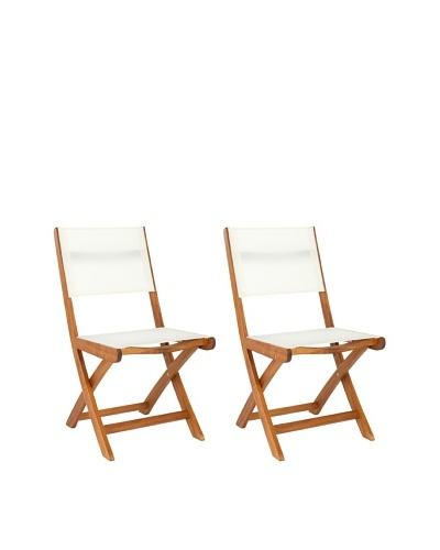 Safavieh Set of 2 Banji Folding Side Chair, Natural