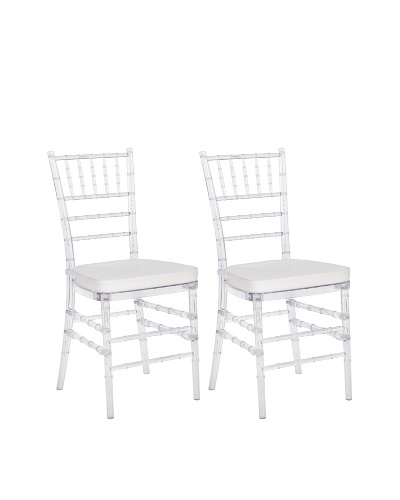 Safavieh Set of 2 Carly Side Chairs, Clear