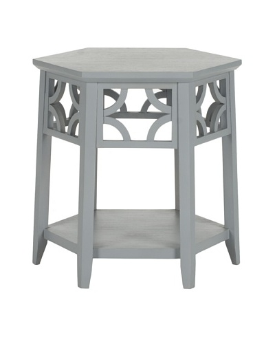 Safavieh Connor Hexagon End Table, Pearl Blue Grey