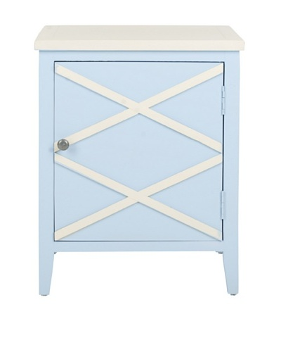 Safavieh Bernardo Side Cabinet, Light Blue/White