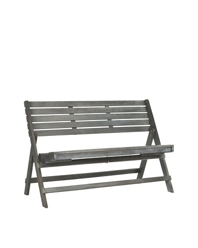Safavieh Luca Folding Bench [Ash Grey]