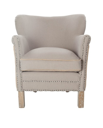 Safavieh Jenny Arm Chair, 2 Tone Beige