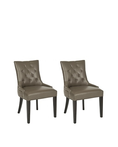 Safavieh Set of 2 Ashley Side Chairs, Clay