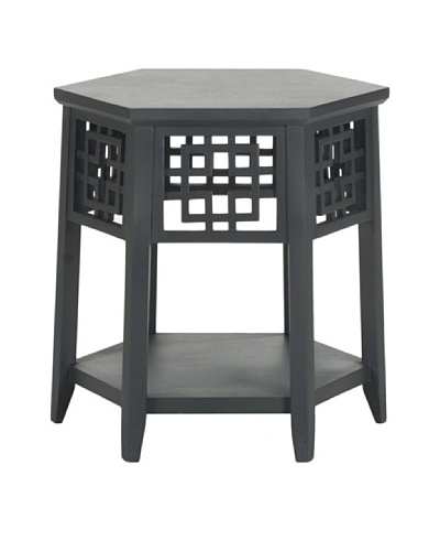 Safavieh Zelda End Table, Charcoal Grey