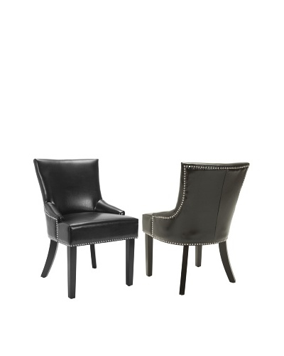 Safavieh Set of 2 Lotus Side Chairs, Black