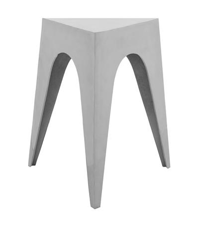 Safavieh Indium Triangular Aluminum Side Table