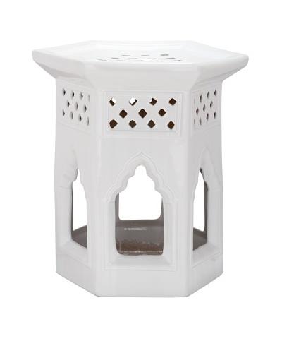 Safavieh Moroccan Garden Stool, White