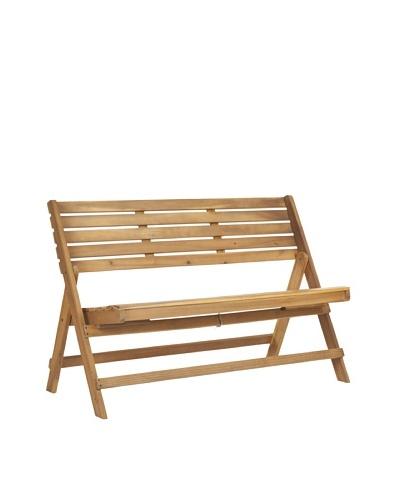 Safavieh Luca Folding Bench, Teak