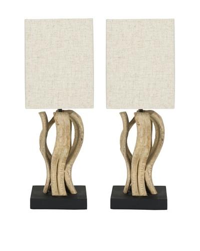 Safavieh Set of 2 Evangeline Vine Mini Table Lamps