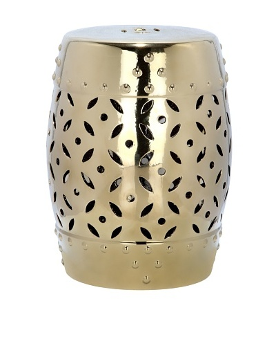 Safavieh Glazed Ceramic Garden Stool, Gold