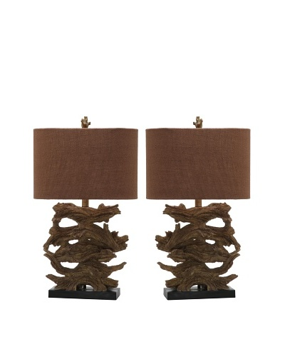 Safavieh Set of 2 Forester Table Lamps, Brown