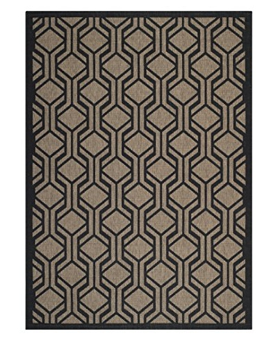 "Safavieh Courtyard Indoor/Outdoor Rug, Brown/Black, 2' 7"" x 5'"