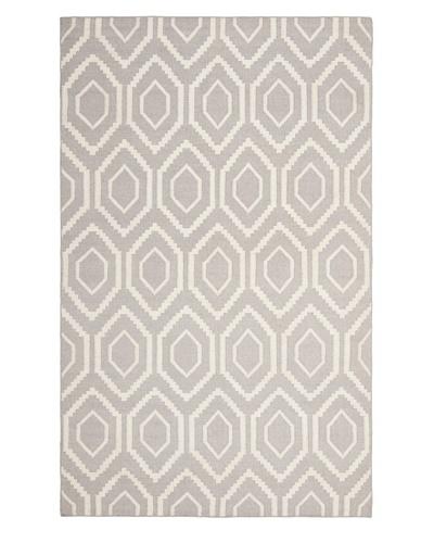 Safavieh Dhurries Flatweave Rug, Grey/Ivory, 11' x 15'