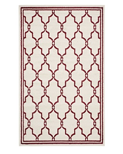 Safavieh Amherst Indoor/Outdoor Rug, Ivory/Red, 2' 6 x 4'