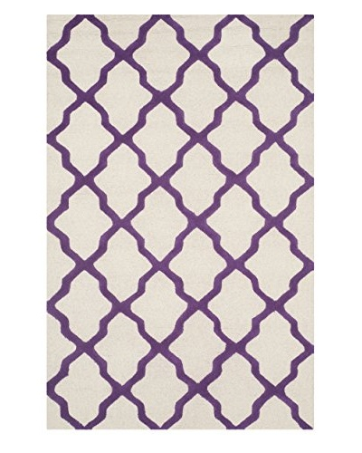 Safavieh Cambridge Rug, Ivory/Purple, 8' x 10'