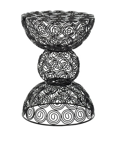 Safavieh Maggie Steelworks Iron Wire Swirls Stool, Black