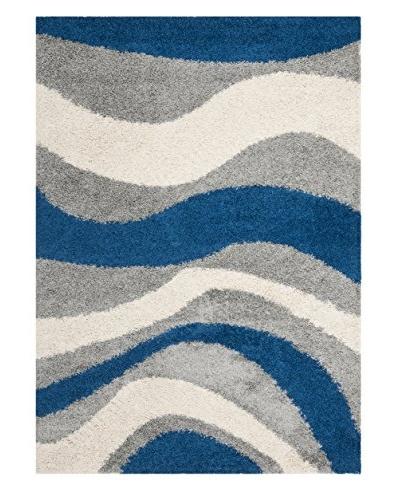Safavieh Art Shag Rug, Blue/Grey, 6' x 9'