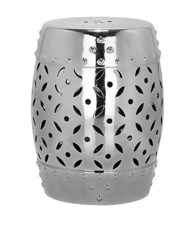 Safavieh Glazed Ceramic Garden Stool, Silver