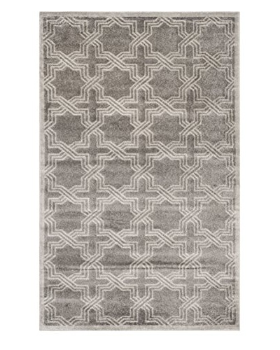 """Safavieh Amherst Indoor/Outdoor Rug, Grey/Light Grey, 2' 6"""" x 4'"""