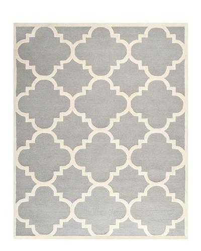 Safavieh Cambridge Rug, Silver/Ivory, 11' x 15'