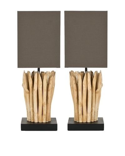 Safavieh Set of 2 Natural Aspen Branch Mini Table Lamps, Natural