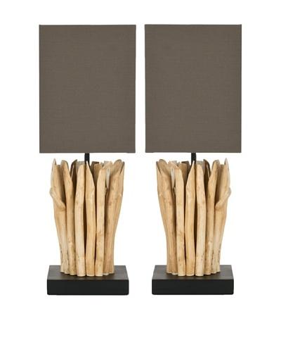 Safavieh Set of 2 Natural Aspen Branch Mini Table Lamps, Natural