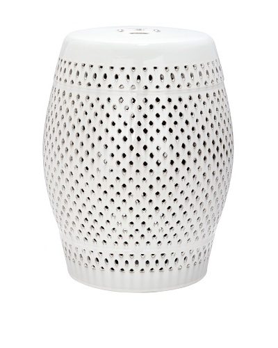 Safavieh Diamond Garden Stool, Cream