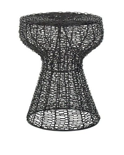 Safavieh Home Collection Willow Steelworks Iron Wire Stool, Black Matte
