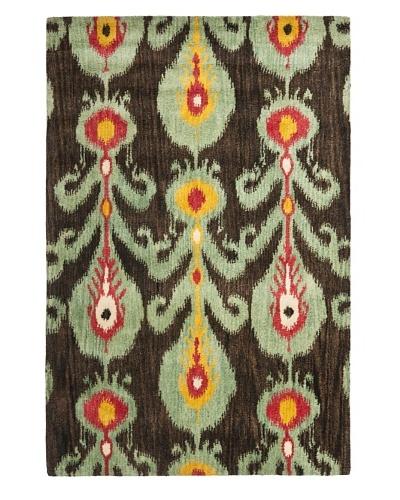 Safavieh Hand-Tufted Wool Ikat Rug [Charcoal/Blue/Multi]