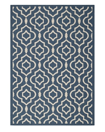 Safavieh Courtyard Indoor/Outdoor Rug [Navy/Beige]