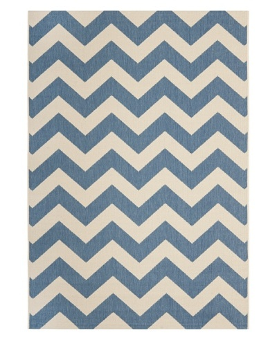 Safavieh Courtyard Indoor/Outdoor Rug, Blue/Beige, 7' 10 Square