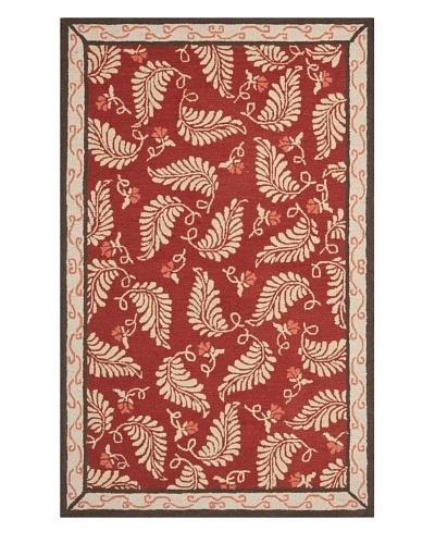 Safavieh Martha Stewart Fern Frolic Rug, Saffron Red, 5' x 8'