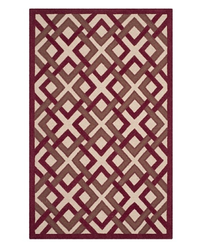 Safavieh Martha Stewart Woven Lattice Rug, Ivory/Red, 3' x 5'