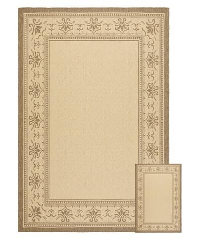 """Safavieh Set of 2 Courtyard Indoor/Outdoor Rugs, Natural/Brown, 6' 6"""" x 9' 6""""/1' 8"""" x..."""