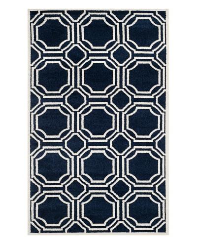 Safavieh Amherst Indoor/Outdoor Rug, Navy/Ivory, 3' x 5'