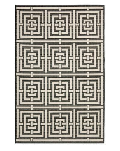 Safavieh Courtyard Indoor/Outdoor Rug [Black/Bone]