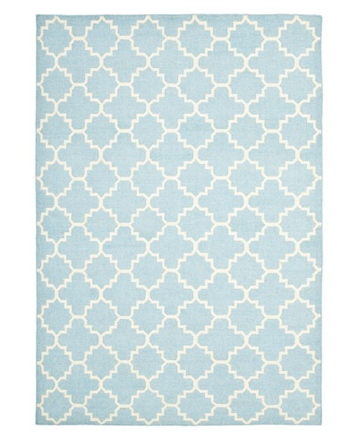 Safavieh Dhurries Flatweave Rug, Light Blue/Ivory, 11' x 15'