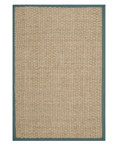 Safavieh Natural Fiber Rug, Natural/Light Blue, 2' 6 x 4'