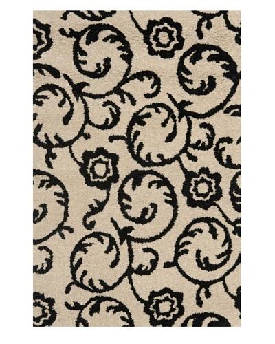 Safavieh Soho Collection Rose Scrolls New Zealand Wool Rug [Beige/Black]