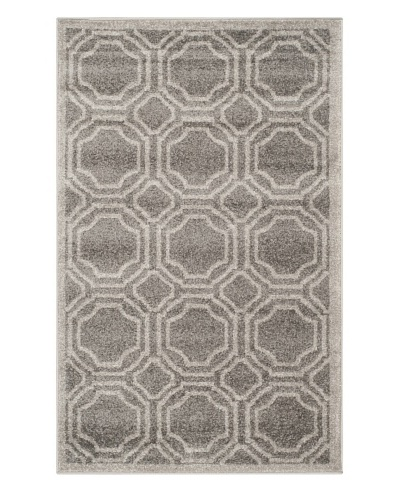 Safavieh Amherst Indoor/Outdoor Rug, Grey/Light Grey, 3' x 5'