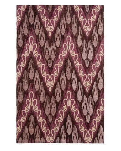 Safavieh Hand-Tufted Wool Ikat Rug, Dark Brown/Purple [DARK BROWN/PURPLE]