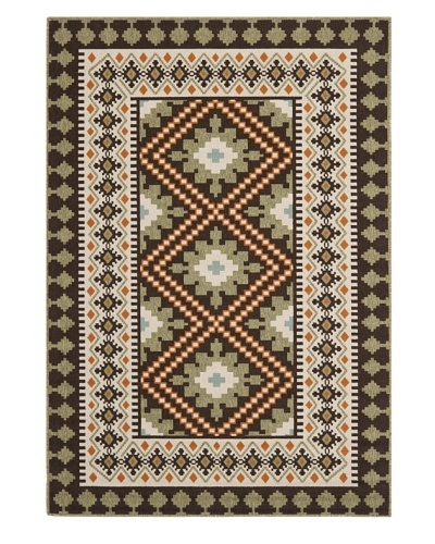 "Safavieh Veranda Indoor/Outdoor Rug, Chocolate/Terracotta, 2' 7"" x 5'"