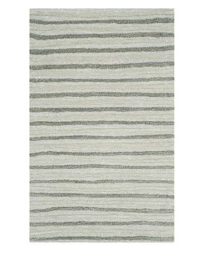 Safavieh Martha Stewart Hand Drawn Stripe Rug, Nmbus Cloud Gray, 8' x 10'