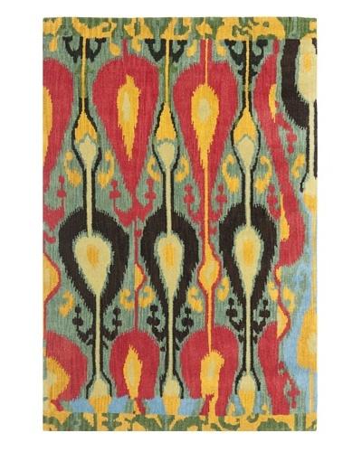 Safavieh Hand-Tufted Wool Ikat Rug [BLUE/GREEN]