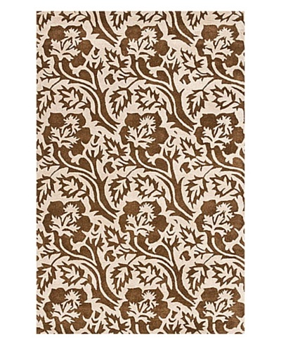 Safavieh Soho Collection New Zealand Wool Rug, Brown/Ivory, 5' x 8'