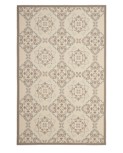 Safavieh Courtyard Indoor/Outdoor Rug [Beige/Dark Beige]