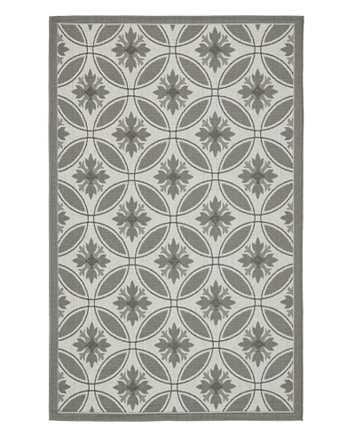 Safavieh Courtyard Indoor/Outdoor Rug [Light Grey/Anthracite]