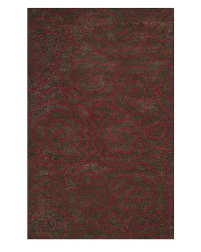Safavieh Soho Collection Roses New Zealand Wool Rug [Chocolate/Red]